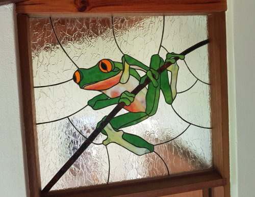 Leadlight frog Gracilenta Suite