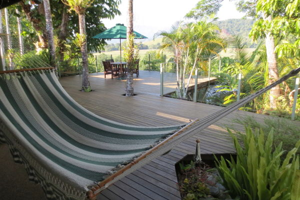 Hammock and Deck at Daintree Village Bed and Breakfast