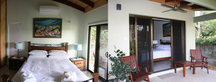 Lesueuri Suite room and verandah Daintree Village Bed and Breakfast