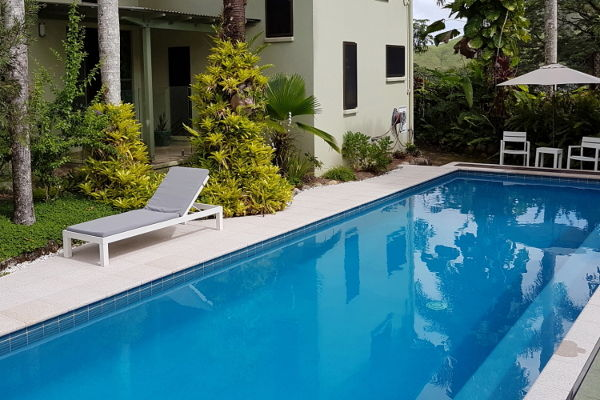 Heated saltwater pool at Daintree Village Bed and Breakfast